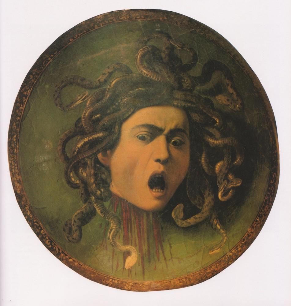 ציור ראש המדוזה של קרוואג'יו (1600)