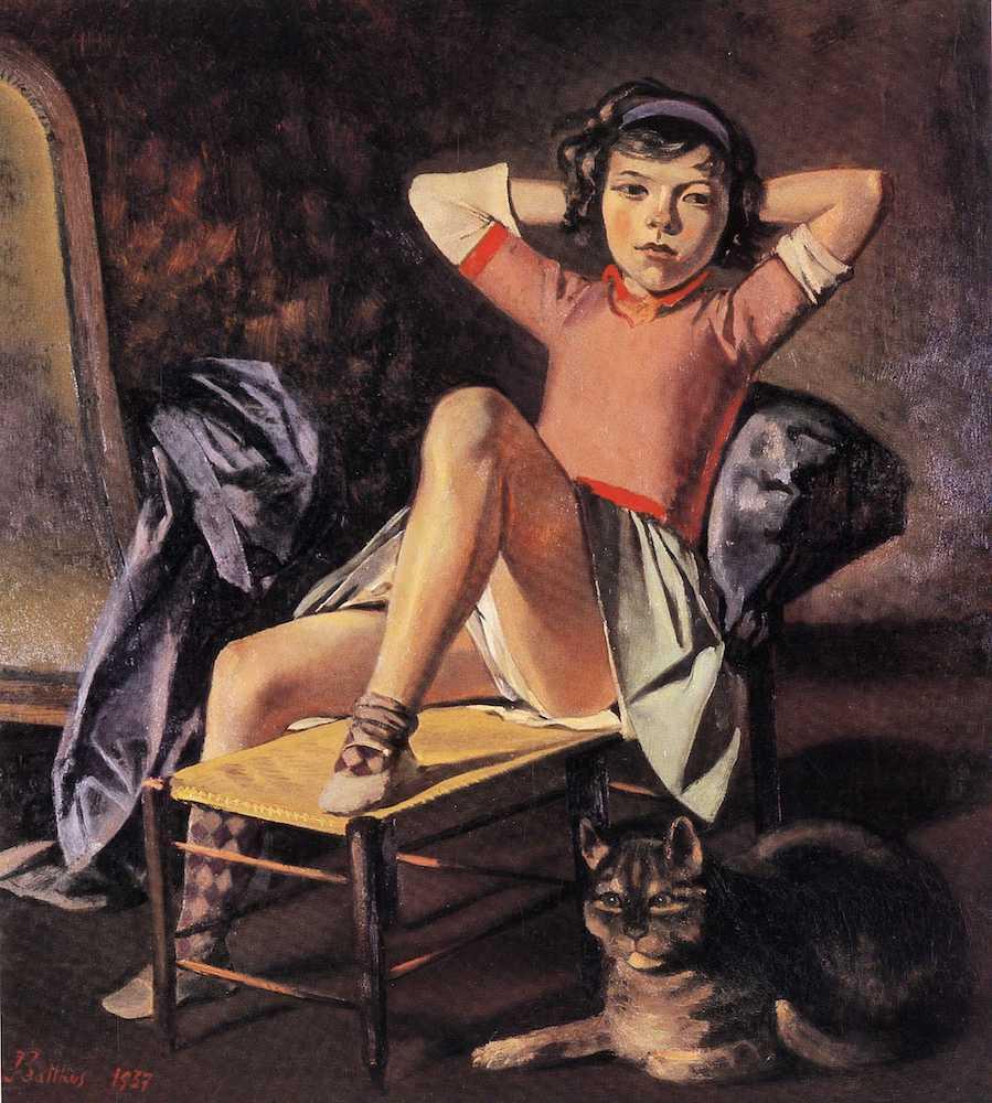 ציור ילדה וחתול של בלתוס (1937)