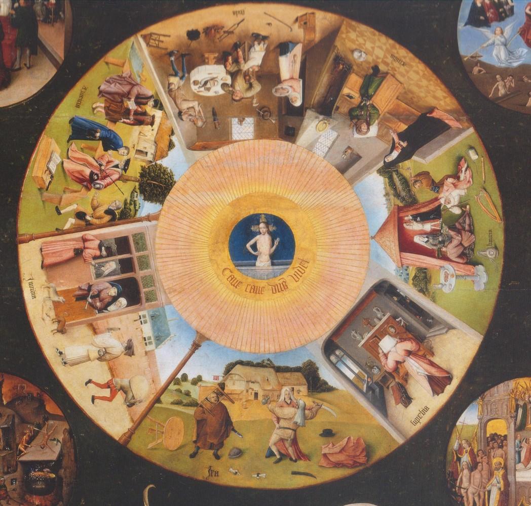 ציור של הירונימוס בוש - שבעת החטאים