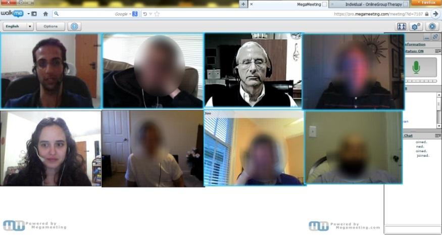 ספת הפסיכולוג מעולם לא הייתה קרובה יותר: קבוצות תמיכה מקוונות באמצעות ועידת וידאו