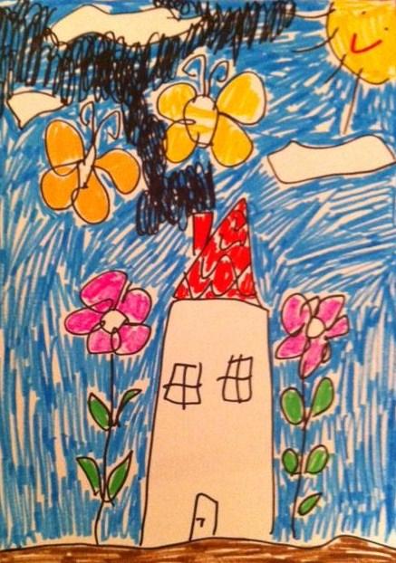 """פרפר, בית, עשן שחור: זיכרונות מטיפול באמנות עם """"ילדה שתוקה"""" 1"""