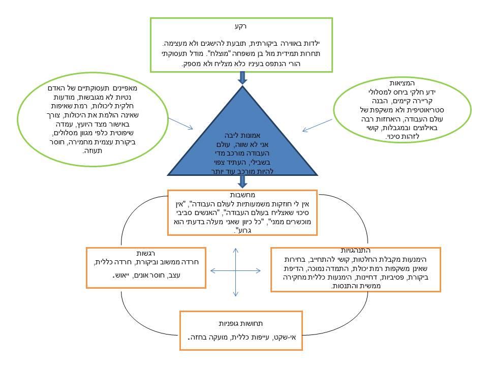 דוגמה להשתקפות תמת הערכה עצמית נמוכה במודל